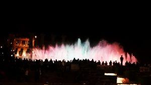 Montjuic : fontaine magique