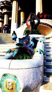 Parc Gwell : la salamandre