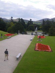 Vue sur les jardins du château