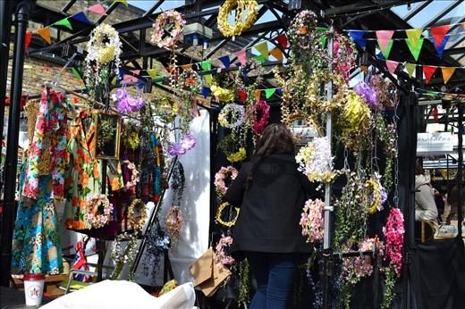 Camdem Market : couronne de fleur