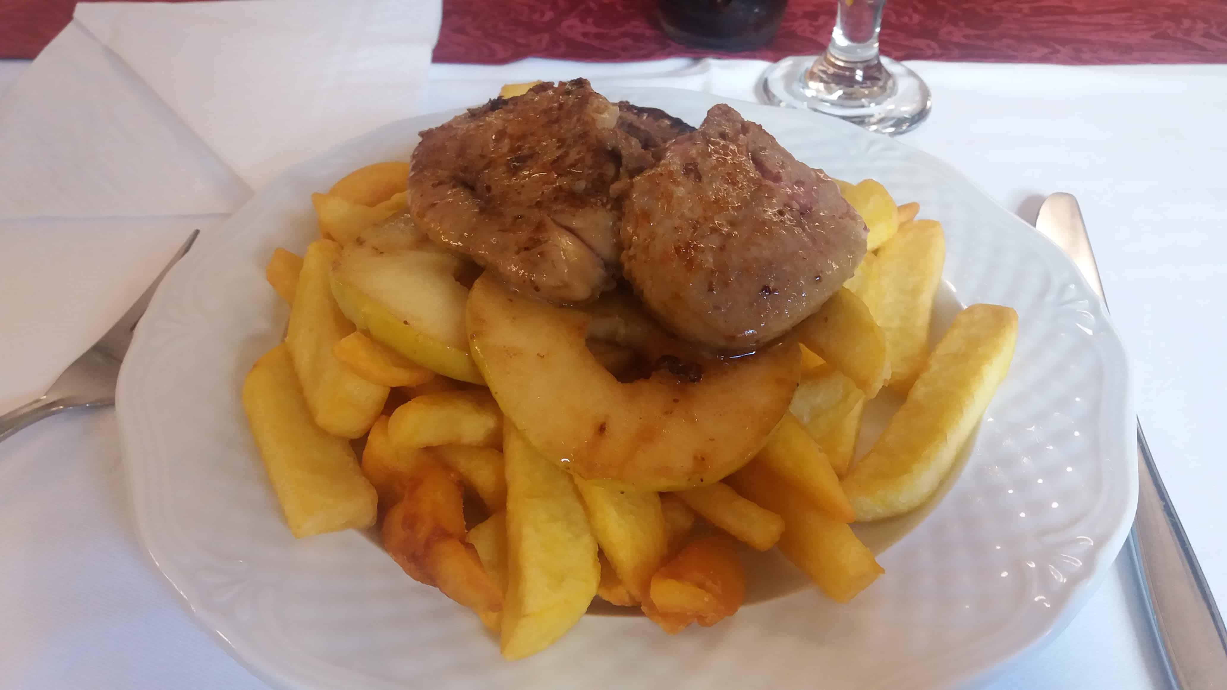 Assiette de foie gras local