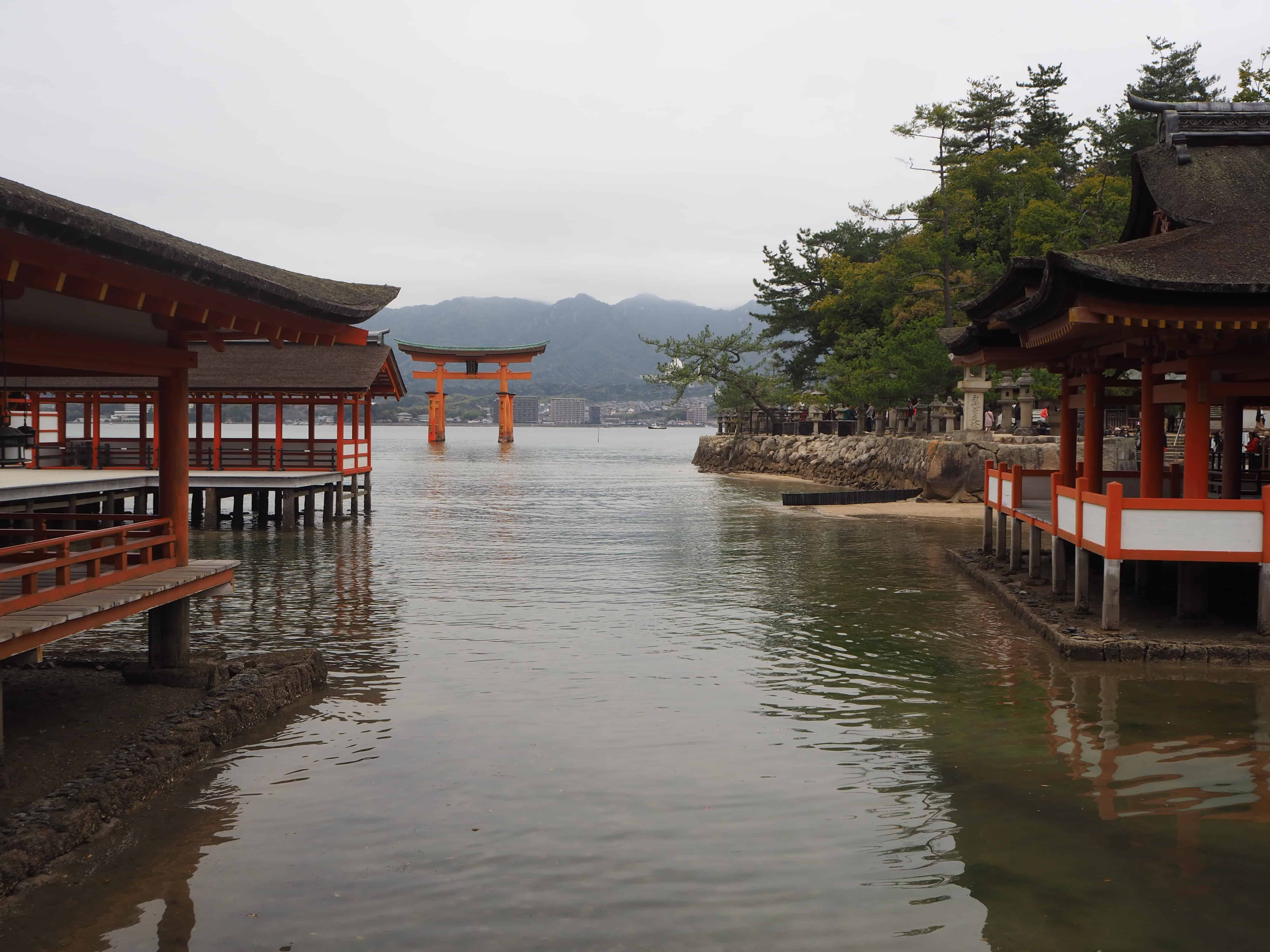 vue sur le torii
