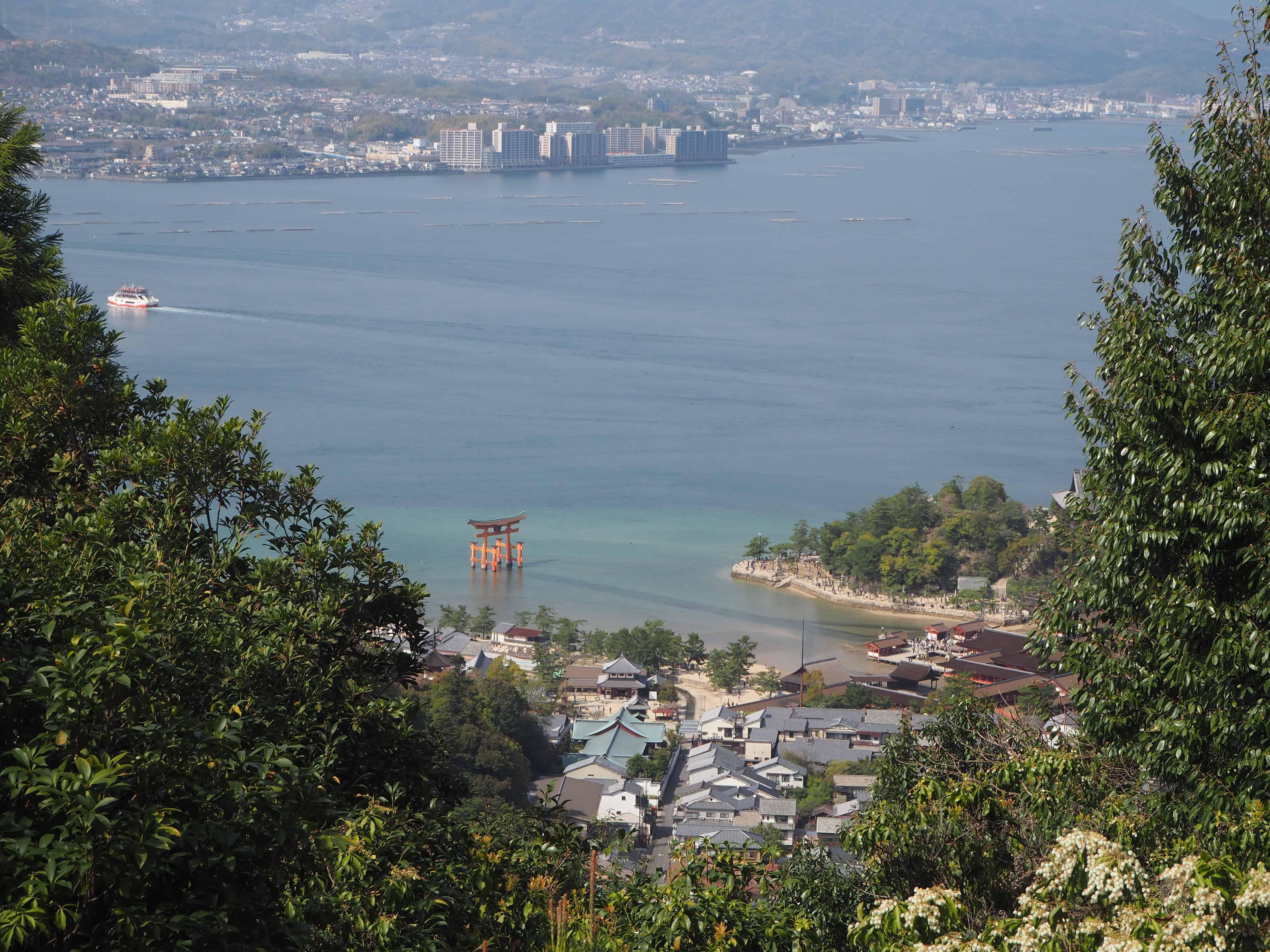 point de vue sur le torii
