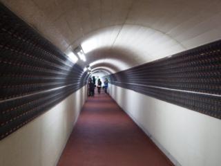 a l'intérieur du tunel