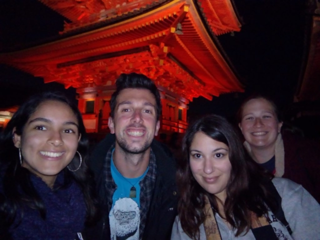balade de nuit dans Kytoto avec mes collègues de boulot