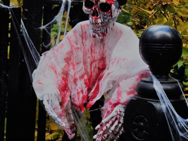 squelette plein de sang