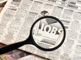 affiche de recherche de travail
