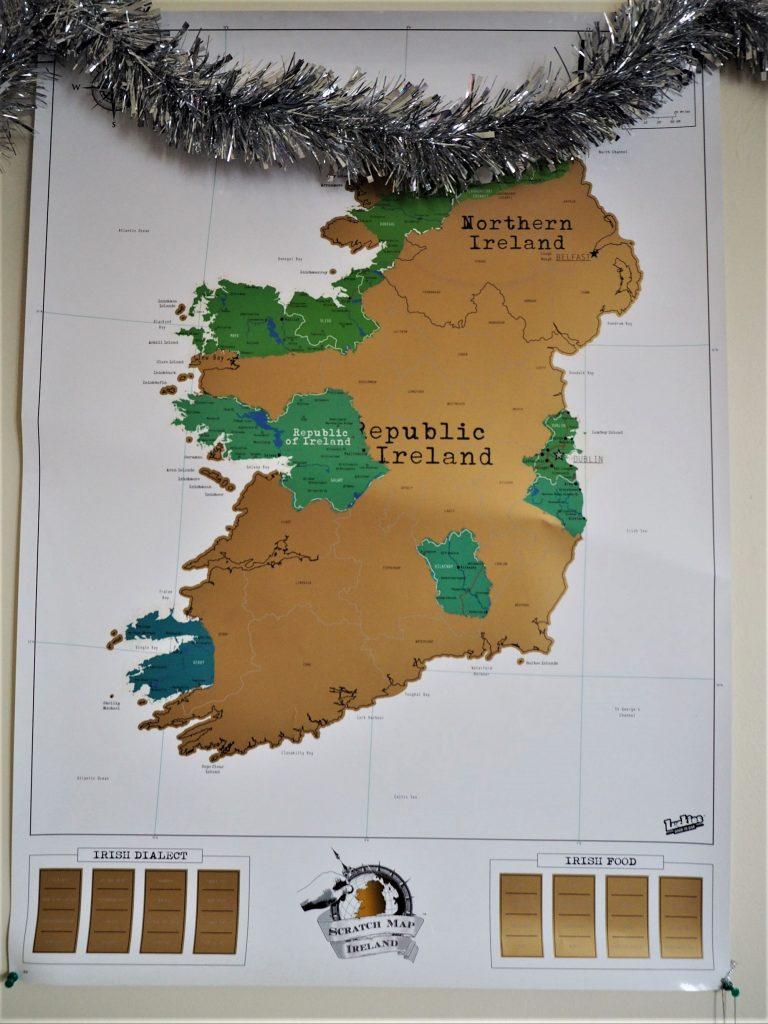 carte irlande à gratter