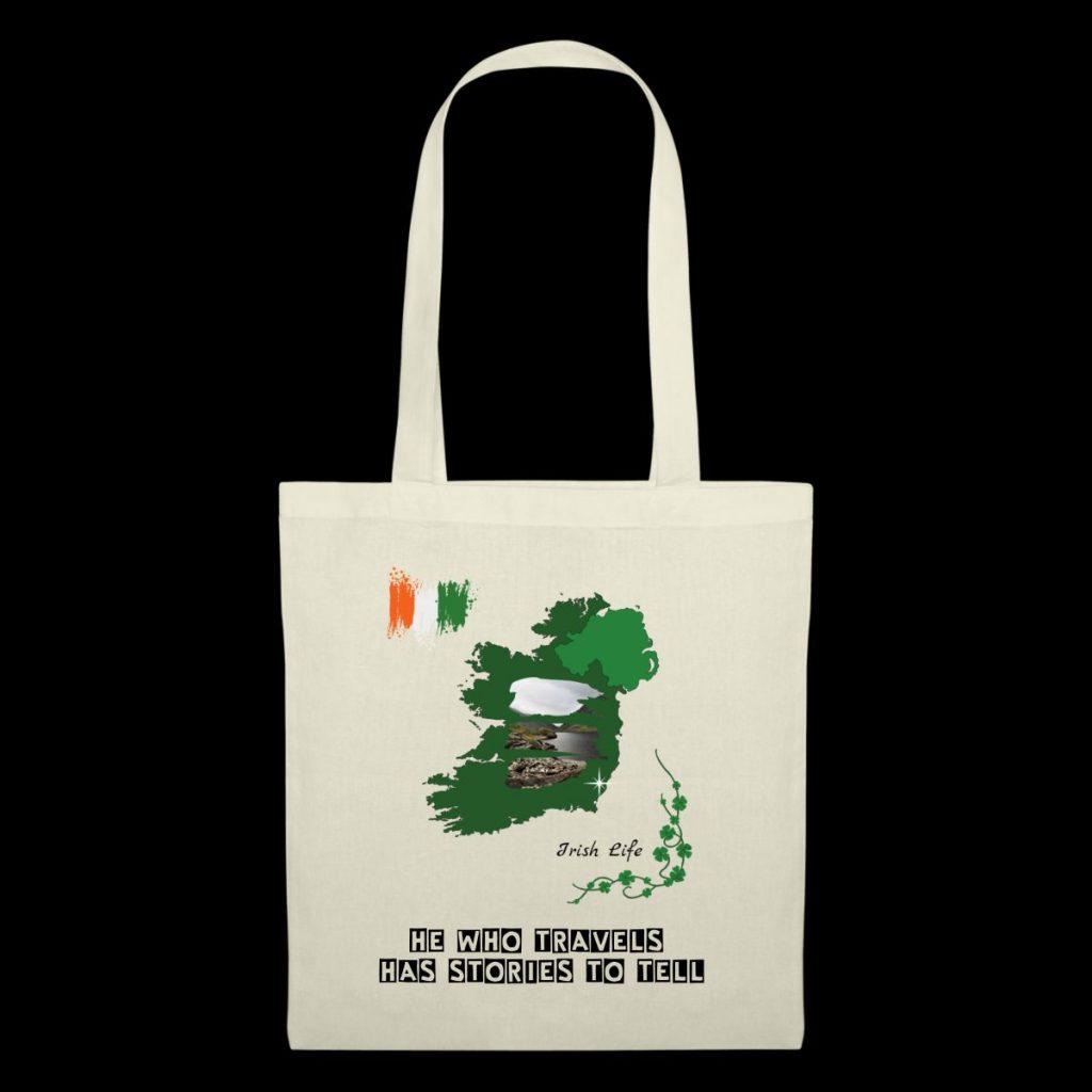Tote bag au design irlandais